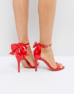 Босоножки на каблуке ASOS HEATWAVE - Красный