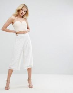 Кружевная юбка-брюки Missguided - Белый