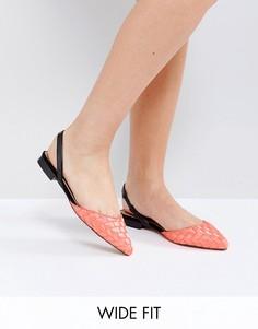 Балетки для широкой стопы с острым носком ASOS LIAR - Розовый