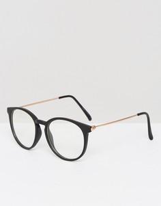 Очки с прозрачной оправой Missguided - Черный