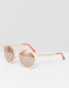 Солнцезащитные очки в металлической оправе Missguided - Золотой