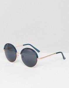 Круглые солнцезащитные очки Missguided - Темно-синий