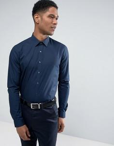 Эластичная приталенная рубашка Calvin Klein - Темно-синий