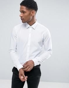 Эластичная приталенная рубашка Calvin Klein - Белый
