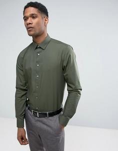Стретчевая рубашка суперзауженного кроя Calvin Klein - Зеленый