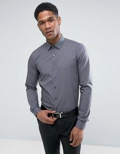 Эластичная приталенная рубашка Calvin Klein - Серый