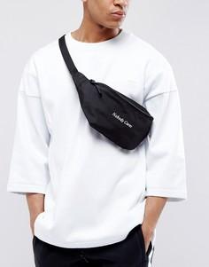 Черная сумка-кошелек на пояс с вышивкой ASOS - Черный