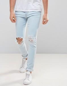 Рваные супероблегающие джинсы Dr Denim - Синий