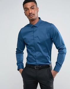 Строгая приталенная рубашка Burton Menswear - Синий