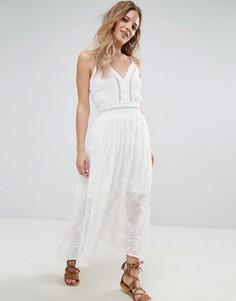 Платье миди с присборенной талией Parisian - Белый