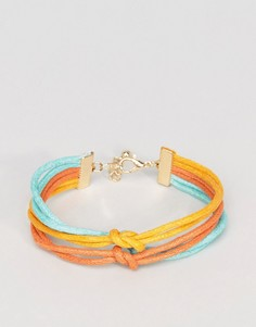 Тройной браслет (желтый/синевато-зеленый/оранжевый) ASOS - Мульти