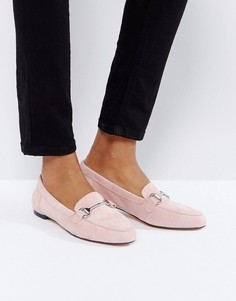 Замшевые лоферы бледно-розового цвета Office - Розовый