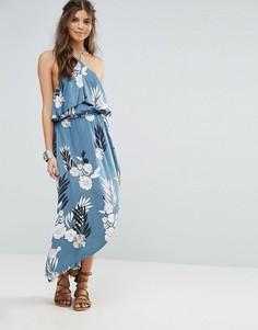 Фестивальное платье-халтер макси с принтом Somedays Lovin - Мульти