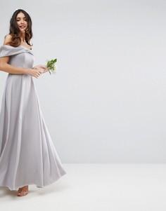 Платье макси с бантом ASOS WEDDING - Мульти
