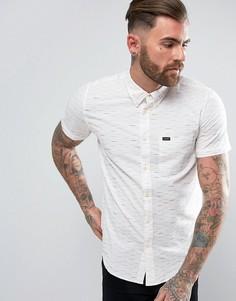 Рубашка классического кроя в полоску на пуговицах с короткими рукавами Lee - Белый