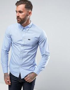 Рубашка узкого кроя на пуговицах с длинными рукавами Lee - Синий