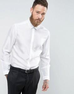 Белая рубашка классического кроя из чистого шелка ASOS - Белый