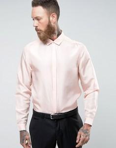 Розовая рубашка классического кроя из чистого шелка ASOS - Розовый