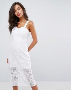 Кружевное платье миди BCBGeneration - Белый