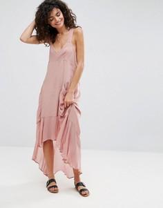Повседневное свободное платье макси ASOS - Розовый