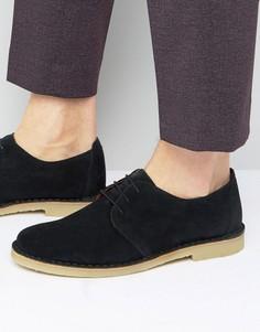 Кожаные дезерты на шнуровке Zign - Черный