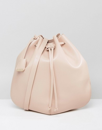 Розовая сумка дафл на плечо с затягивающимся шнурком Glamorous - Бежевый
