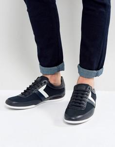 Темно-синие кроссовки с сетчатой отделкой BOSS Green by Hugo Boss - Темно-синий