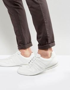 Белые кожаные кроссовки BOSS Green by Hugo Boss - Белый