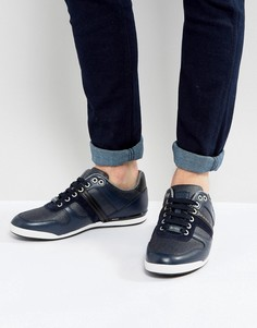 Кожаные кроссовки BOSS Green by Hugo Boss - Темно-синий