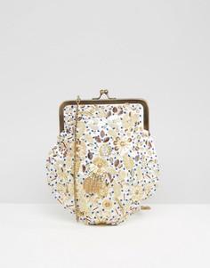 Декорированная сумка на плечо Park Lane - Кремовый