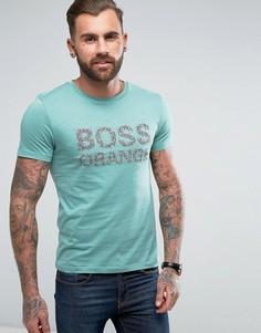 Зеленая футболка с логотипом BOSS Orange by Hugo Boss Turbulence 1 - Зеленый
