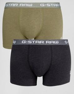 Комплект из 2 пар боксеров-брифов (зеленый/черный) G-Star Raw - Мульти