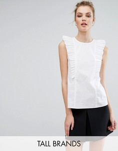 Блузка с рюшами Fashion Union Tall - Белый