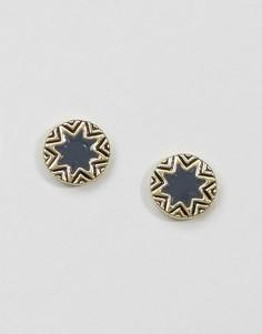 Серьги-гвоздики House Of Harlow Star Burst - Золотой