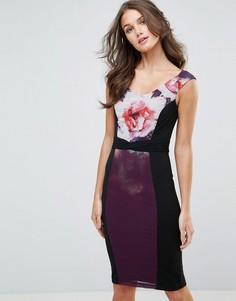 Облегающее платье с цветочным принтом Little Mistress - Мульти