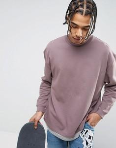 Oversize-свитшот с эффектом футболки ASOS - Фиолетовый