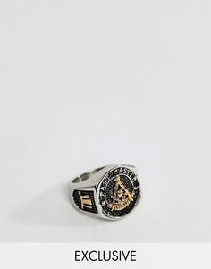 Кольцо-печатка Seven London - Серебряный