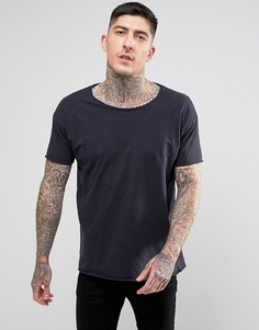 Меланжевая футболка Nudie Jeans Co Roger - Темно-синий