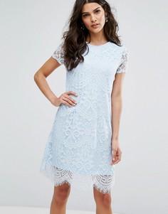 Цельнокройное кружевное платье Lipsy - Синий
