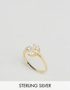 Кольцо с позолотой 18 карат и камнем Regal Rose Aurelia - Золотой