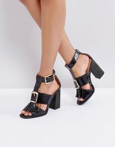 Черные босоножки на каблуке с пряжкой RAID Mabel - Черный