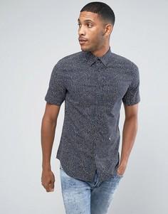 Рубашка с короткими рукавами и принтом звезд Diesel - Темно-синий