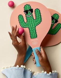 Игровой набор из ракеток с принтом кактуса и мячей Sunnylife x Tiffany Cooper - Мульти