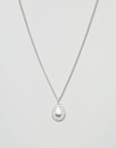 Посеребренное ожерелье Pilgrim - Серебряный