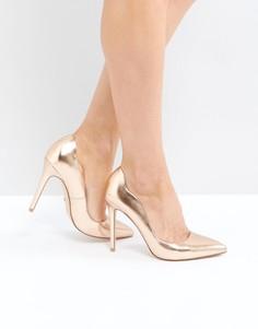 Золотисто-розовые туфли-лодочки Faith - Золотой