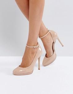 Туфли телесного цвета на каблуке Faith - Розовый