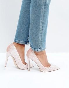 Розовые бархатные туфли-лодочки Faith Cassidy - Розовый