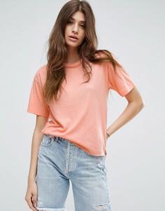 Свободная футболка ASOS - Оранжевый