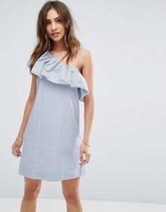 Платье на одно плечо с оборкой Abercrombie & Fitch - Мульти