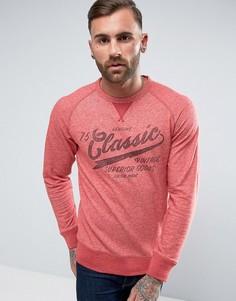 Свитшот в винтажном стиле с принтом Jack & Jones - Красный